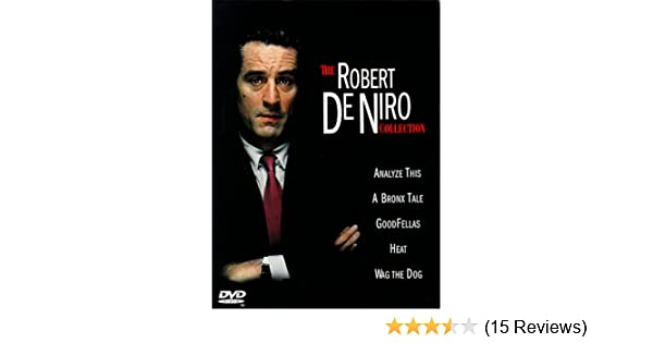 Amazon The Robert De Niro Collection Analyze This A Bronx Tale Goodfellas Heat Wag Dog Ray Liotta Joe Pesci Lorraine Bracco