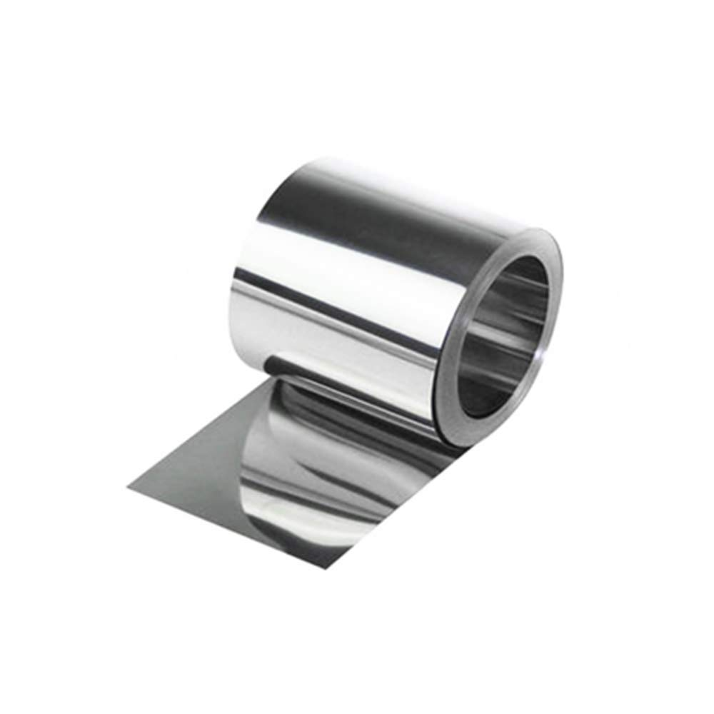 0.9mm Thick Brushed Stainless Steel Sheet Plate 50mm x 50mm 20 sizes to choose from
