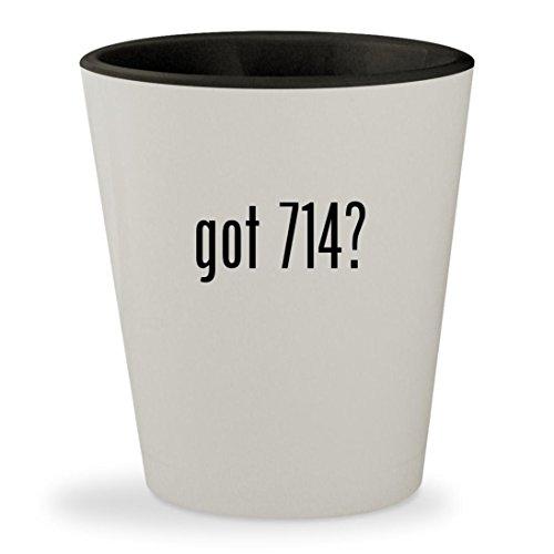 got 714? - White Outer & Black Inner Ceramic 1.5oz Shot Glass