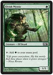English Commander 2014 MTG Magic 1x Elvish Mystic NM-Mint