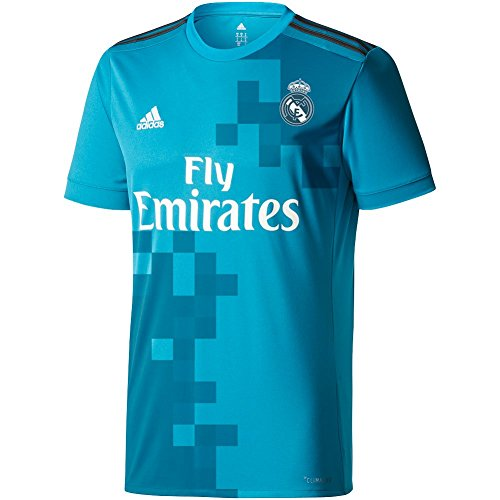 adidas Mens Real Madrid 17/18 3Rd Replica Jersey Blue Grey M
