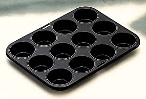 Ibili 820501 - Molde muffin 12 cavidades antiadherente 34 x 26 cm