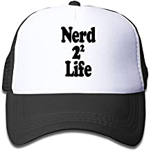 KEIOPO Youth Nerd 4 Life Adjustable Mesh Trucker Caps Hats