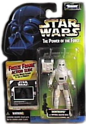 (Star Wars Power of the Force Freeze Frame Snowtrooper Action Figure)