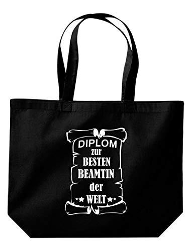 Besten Bolsa La Shirtstown Beamtin Compra Der Para Welt Diploma Negro De Große Baffx0