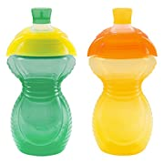Munchkin Click Lock Bite Proof Sippy Cup, Green/Yellow, 9 Ounce, 2 Count