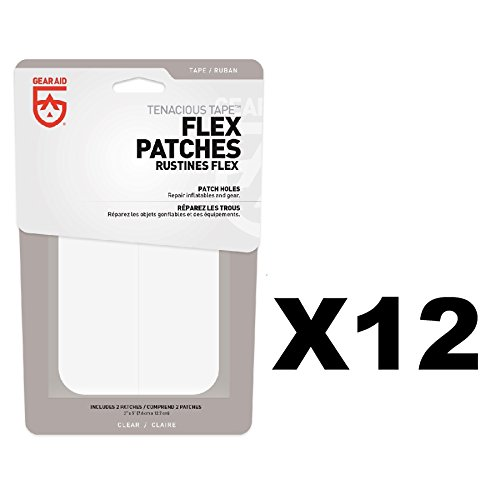 McNett Gear Aid Tenacious Tape Max Flex Repair Patch 2-Count Permanent (12-Pack) by Gear Aid
