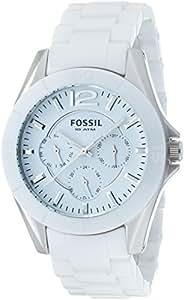 Fossil Women's CE1002 White Ceramic Bracelet White Analog Dial Multifunction Watch