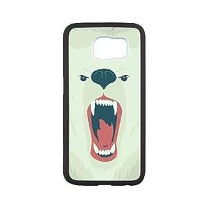 Samsung Galaxy S6 Cell Phone Case Black aj27 bear face art illust soft SUX_910107