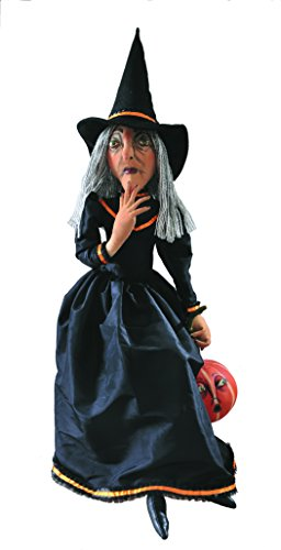 """""""Clarice"""" Witch Halloween Figure Soft Sculpture Fabric Doll"""