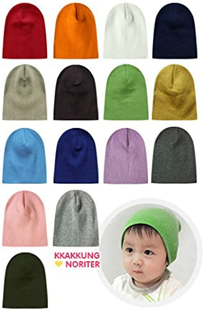 a555e83b Agibaby 100% Cotton 3 pack Premium Infant & Toddler Boys & Girls Cute  Beanie Hats