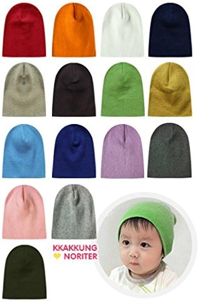 01537712d 100% Cotton 3 Pack Infant & Toddler Boys & Girls Cute Beanie Hats- Multiple  Colors