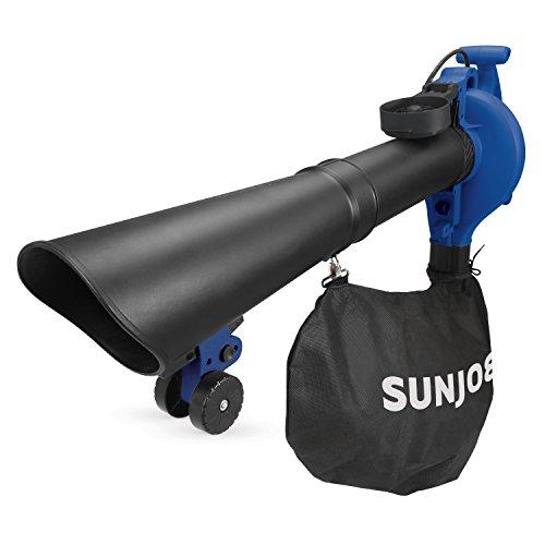 Sun Joe SBJ605E-SJB 14-Amp High Performance Variable-Speed (up to 250 MPH) Electric Blower/Vacuum/Mulcher with Metal Impeller, Dark - Sun Joe Products