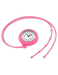 Zhisan Nurse Lanyard Watch Fob Watches Necklace Nurse Watch Silicone Pocket Watch