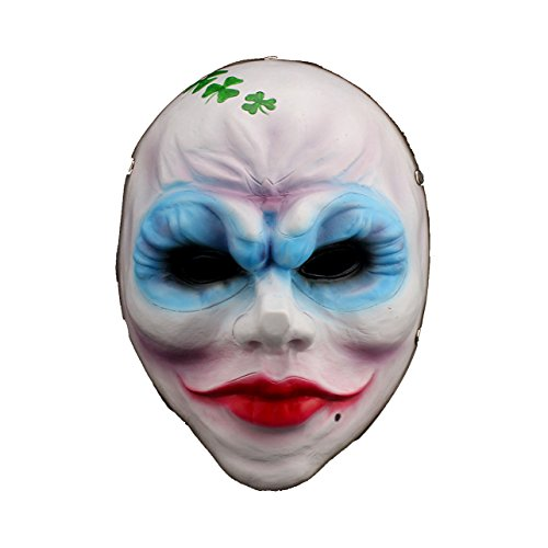 YUFENG Animated Mask,Movie Theme Mask Resin Collection Props Halloween Party Mask (Female bandit mask) ()