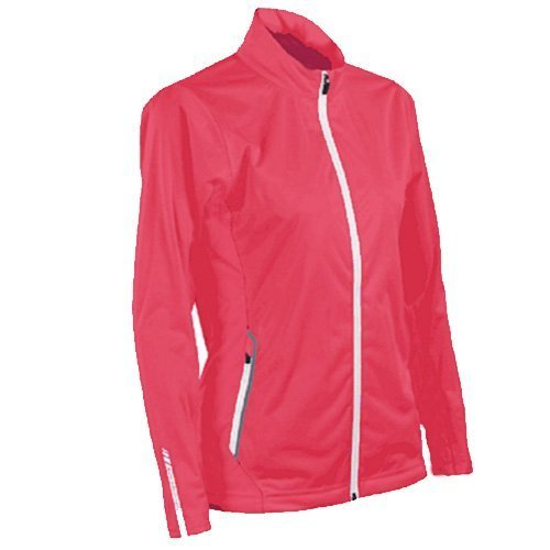 Sun Mountain 2017 Women's Rainflex Jacket (Coral-White, (Sun Mountain White Jacket)