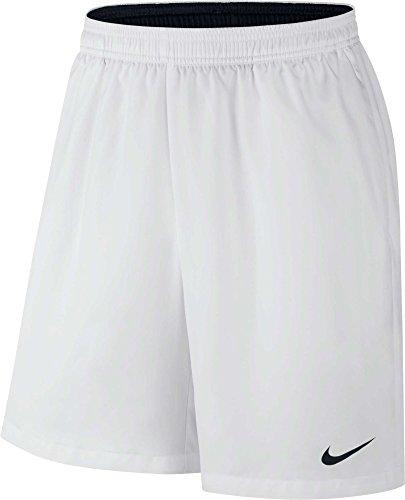 Nike Court Dry 9 Tennis Short White/White/Black Men's Shorts