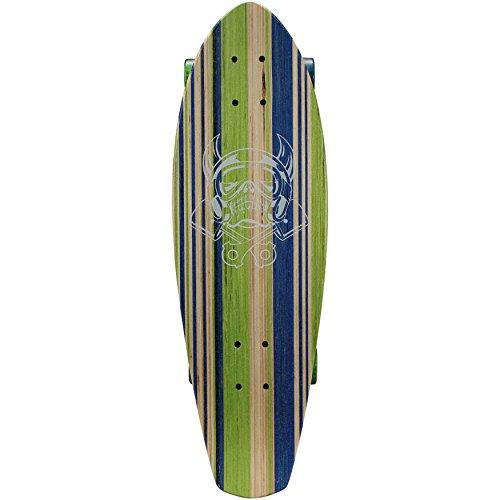 Hubless Trucks (Laser Cut Logo Blue Green Trick Cruiser Shape Skateboard)