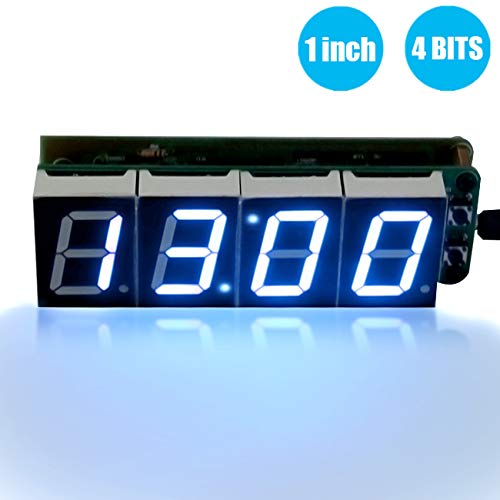 - WHDTS 1 Inch 4-Digit Digital Electronic Clock Kits with PCB AT89C2051 Chip Alarm Clock Kit for DIY Soldering Practice Learning Electronics