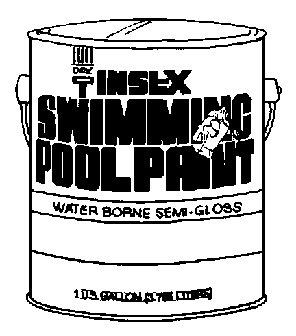 Insl-X Swimming Pool Paint Indoor, Outdoor Semi Gloss White 1 Gl by INSL-X
