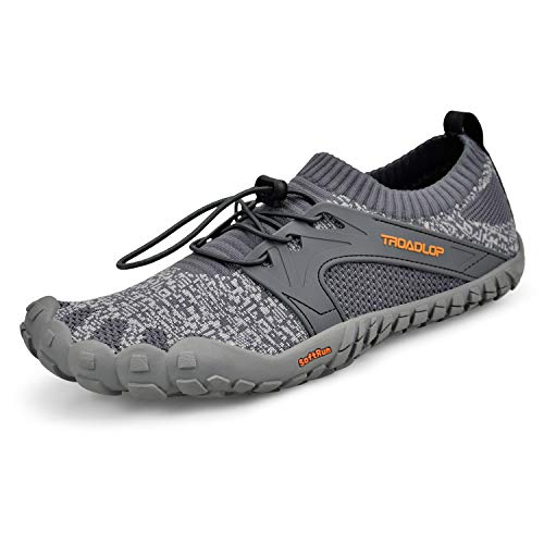 (Troadlop Pear Feet Men's Shoes Water Shoes Quick Drying Barefoot Sneakers Grey7.5)