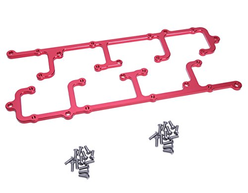 (Hiwowsport Billet Aluminum Coil Brackets for LS1/LS6 D580 12558948 Coils Red Color)