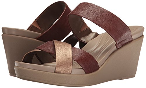 Pictures of Crocs Women's Leigh-Ann Leather Wedge Sandal Crocs Leighann Leather Wedge 4