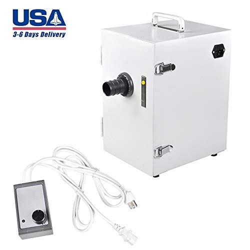 zinnor Dental Lab Digital Single-Row Dust Collector Vacuum Cleaner 370W (US Shipping)