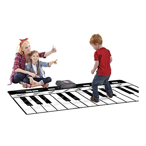 QIENON Kids Piano Music Mats Toy 24 Keys Touch Game Dance Mat MP3 Recording Function 8 Selectable Musical Instruments…