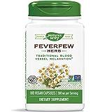 Nature's Way Feverfew; 380 mg TRU-ID Certified Non-GMO Project Vegetarian; 180 Capsules