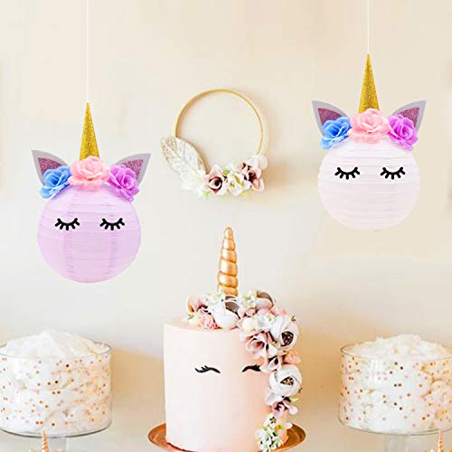 Unicorn Party Decorations-Unicorn Table Centerpieces Paper Lanterns DIY  Ideas for Unicorn Baby Shower Birthday Party Supplies