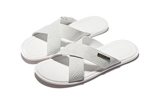 OPP Men's Designer Premium Leather Thong Slide Sandals Original Dressy Comfort Slip On Flip Flops (Italian Man Sandals compare prices)