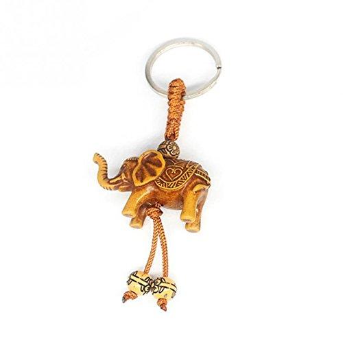 1 Pack Lucky Elephant Carving Wooden Keyrings Pendants Teenagers Keys Hook Hooks Key Chains Splendid Popular Pocket Girls Bag Car Keychain