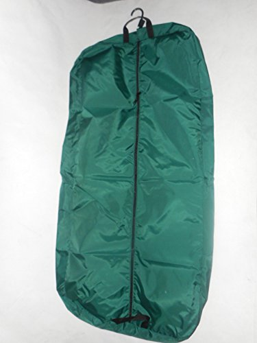 Garment Bags Dress Length nylon;46 inch length Carry on Bag Made in U.s.a. (Green)