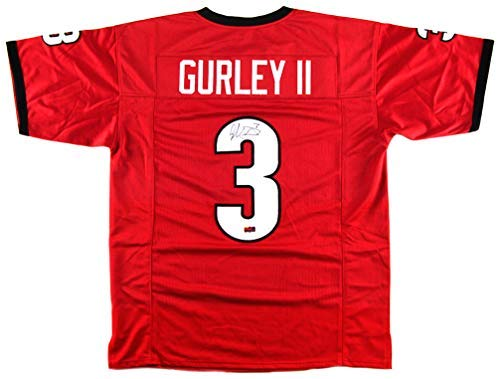 Todd Gurley Autographed/Signed Georgia Custom Red Jersey