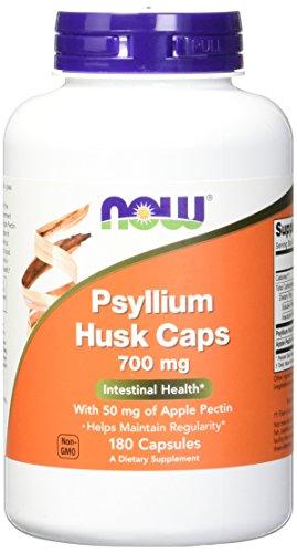 700 Mg 180 Capsules (Now Foods Psyllium Husk 700mg with Pectin, Capsules,)