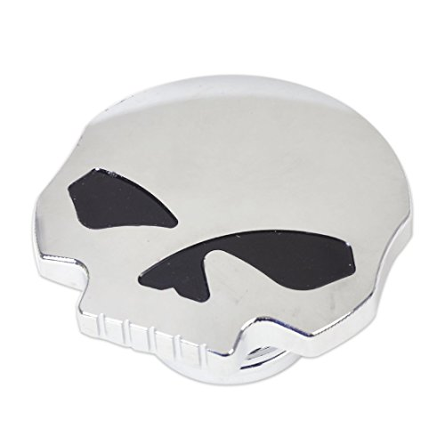 DLLL Motorcycle CNC Aluminum Skull Eye Fuel Gas Tank Oil Cap for Harley Davidson Sportster XL 1200 883 X48 Dyna Softail FXD FL XL FLT Big Twin Touring Road King (Harley Gas Tank)