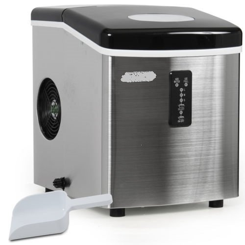 35 lb Per Day Stainless Steel Portable Ice Maker Countertop (Marvel Top Freezer Refrigerator)