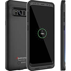 cheap for discount ee9fc c2697 Amazon.com: Galaxy S8 Plus Battery Case Compatible with Qi Wireless ...