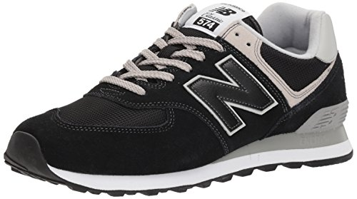 (New Balance Men's 574v2 Evergreen Lifestyle Sneaker, Black, 10 2E US)