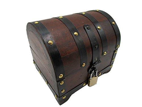 Holzspielzeug-Tom BGS Cottage Large Cash Box with Lock Treasure Chest Treasure Chest Wooden Box Decoration Wedding Birthday Gift Storage Lockable Lockable with Lid, Rustikal