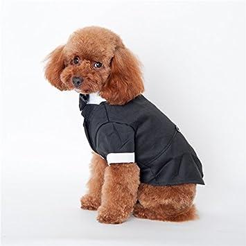 21124e6fd9117 AWHAO 犬服 つなぎ シャツ リボン タキシード 犬 服 犬洋服 シャツ 男の子 誕生日 結婚