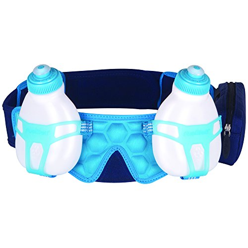 Fuel Belt hélium Bouteille 2Ceinture d'Hydratation bleu-Deep Sea/Honolulu Bleu, XL