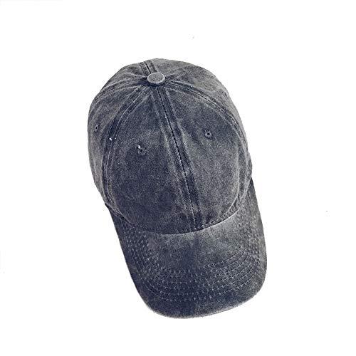 Dream Amy Hat Unisex Stone Washed Cotton Baseball Cap Adjustable Size (Black)