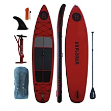"""Bright Blue 11'6"""" Inflatable Stand Up Paddle board (6"""" Thick) with Pump, Paddle,Backpack, Fin, New Model ISUP For 2017 Range"""