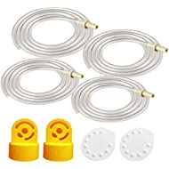 Tubing Replacement (Two Retail Packs, 4 Tubes), 2 Valves and 2 Membranes for Medela Pump in Style Advanced Breast Pump Released After Jul 2006. Can Replace Medela Valve & Membrane; Made by Maymom.