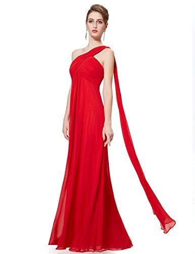 sin fiesta Vestido Pretty Ever Rojo HE09816 Mujer de mangas AcnHc4xf