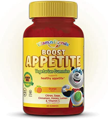 Vitamin Friends - All Natural Children's Appetite Stimulant - Kids Boost Appetite Gummies to Support Healthy Immune System and Energy Levels, Orange Flavor Vitamin, 60 Count