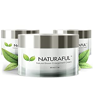 NATURAFUL – (3 JAR) TOP RATED Breast Enhancement Cream – Natural Breast Enlargement, Firming and Lifting Cream | Trusted by Over 100,000 Users & Includes Handbook | $232 Value Bundle