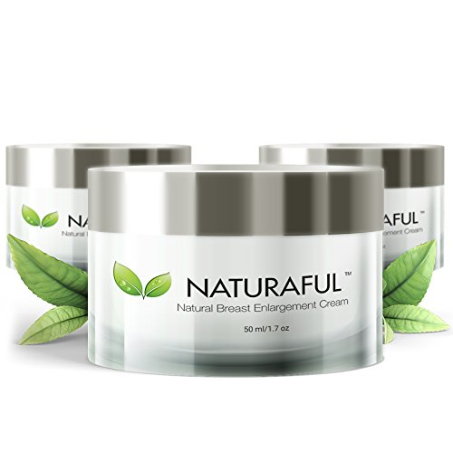 NATURAFUL - (3 JAR) TOP RATED Breast Enhancement Cream - Natural Breast Enlargement, Firming and Lifting Cream | Trusted by Over 100,000 Users & Includes Handbook (A New Lifting Day Cream)
